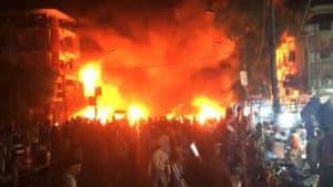 العلاّمة السيد علي الأمين دان تفجيرات بغداد – الكرّادة Carbombikarrad-300x169