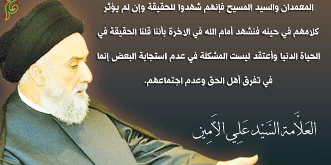 أنت تدافع عن طائفتك إذا .. الأمين | موقع المرجع الديني السيد علي الأمين ، لبنان
