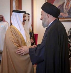 الملك حمد بن عيسى آل خليفة - السيد علي الأمين