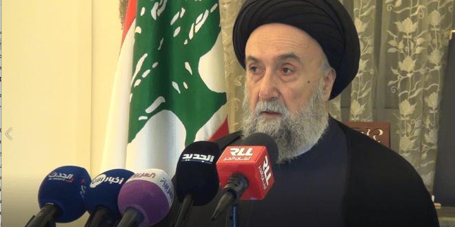 """المؤتمر الصحفي لسماحة العلاّمة السيد علي الأمين يرد على حملة افتراءات """"حزب الله"""" Sayyed-ali-al-amin-conference-660x330"""